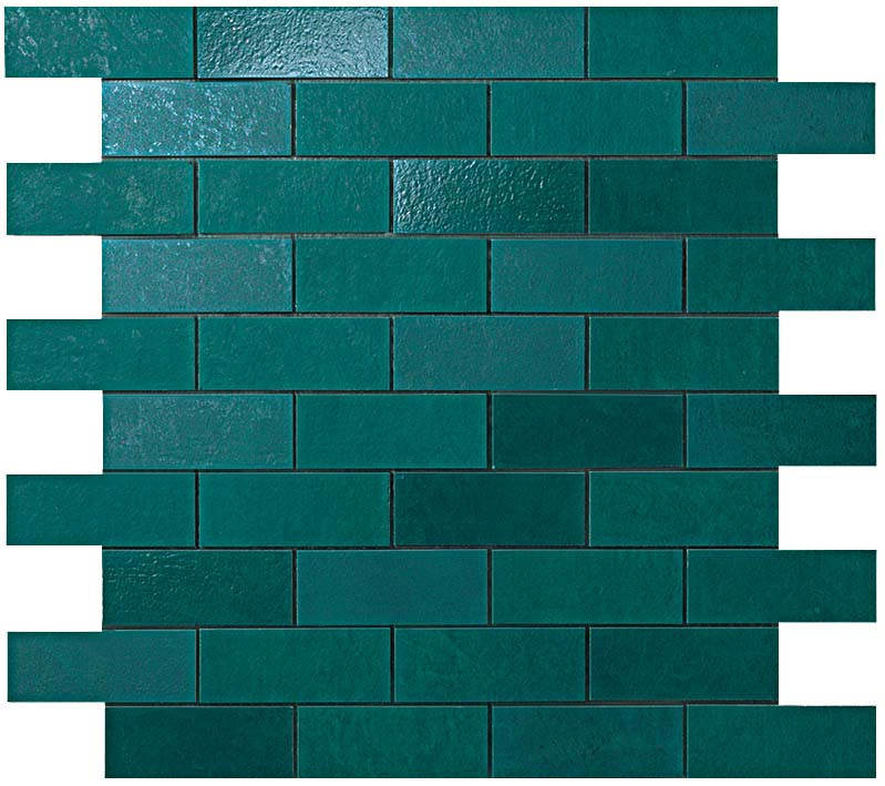 Мозаика Petroleum Green Minibrick